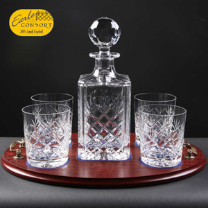 Crystal Whisky Decanter and Glassses