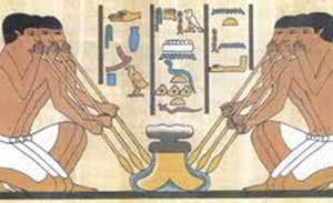 Early Egyptian Glass Blowing