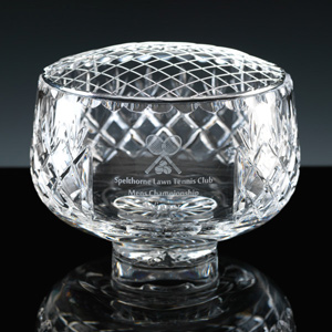 Lead crystal bowl cut and engraved