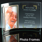 Personalised glass photo frame gifts