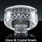 Glass & crystal bowls, plain or for engraving
